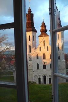 Schreibtischblick BCWT, Visby, Schweden (© Inga Meincke)