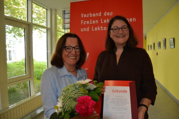 Ehrenmitglied Elisabeth Dorner und VFLL-Vorsitzende Susanne Janschitz